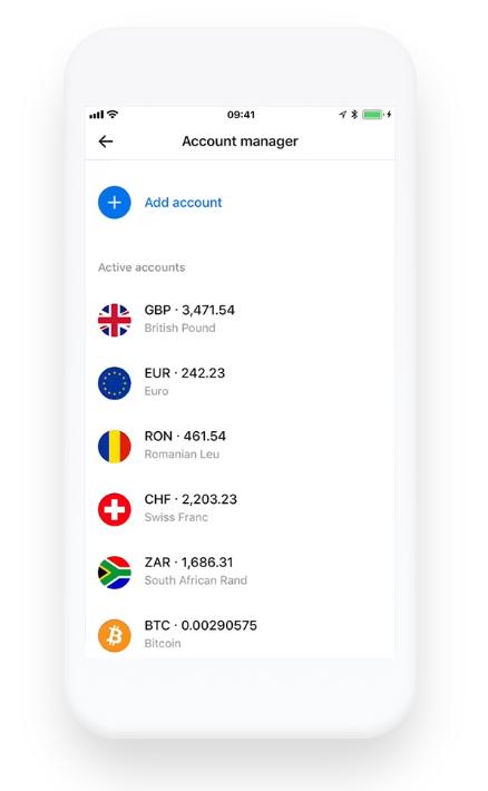 Revolut App: Account multicurrency, open account in various currencies