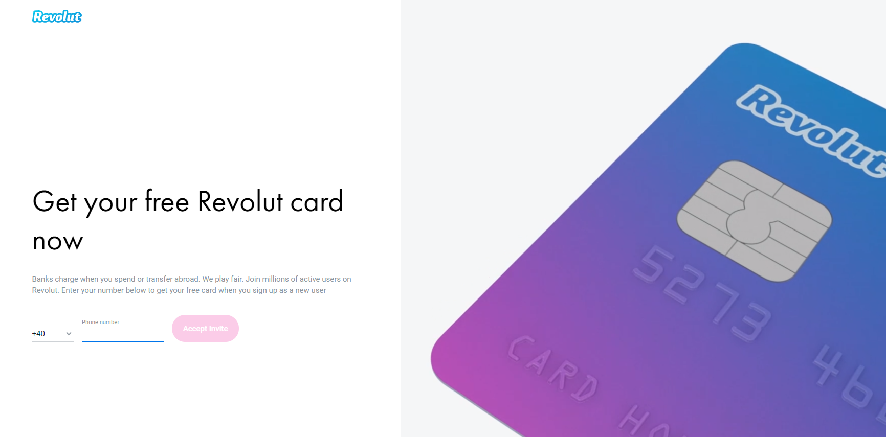Sign up for free to your Revolut account. you can use notepad for downloading the app