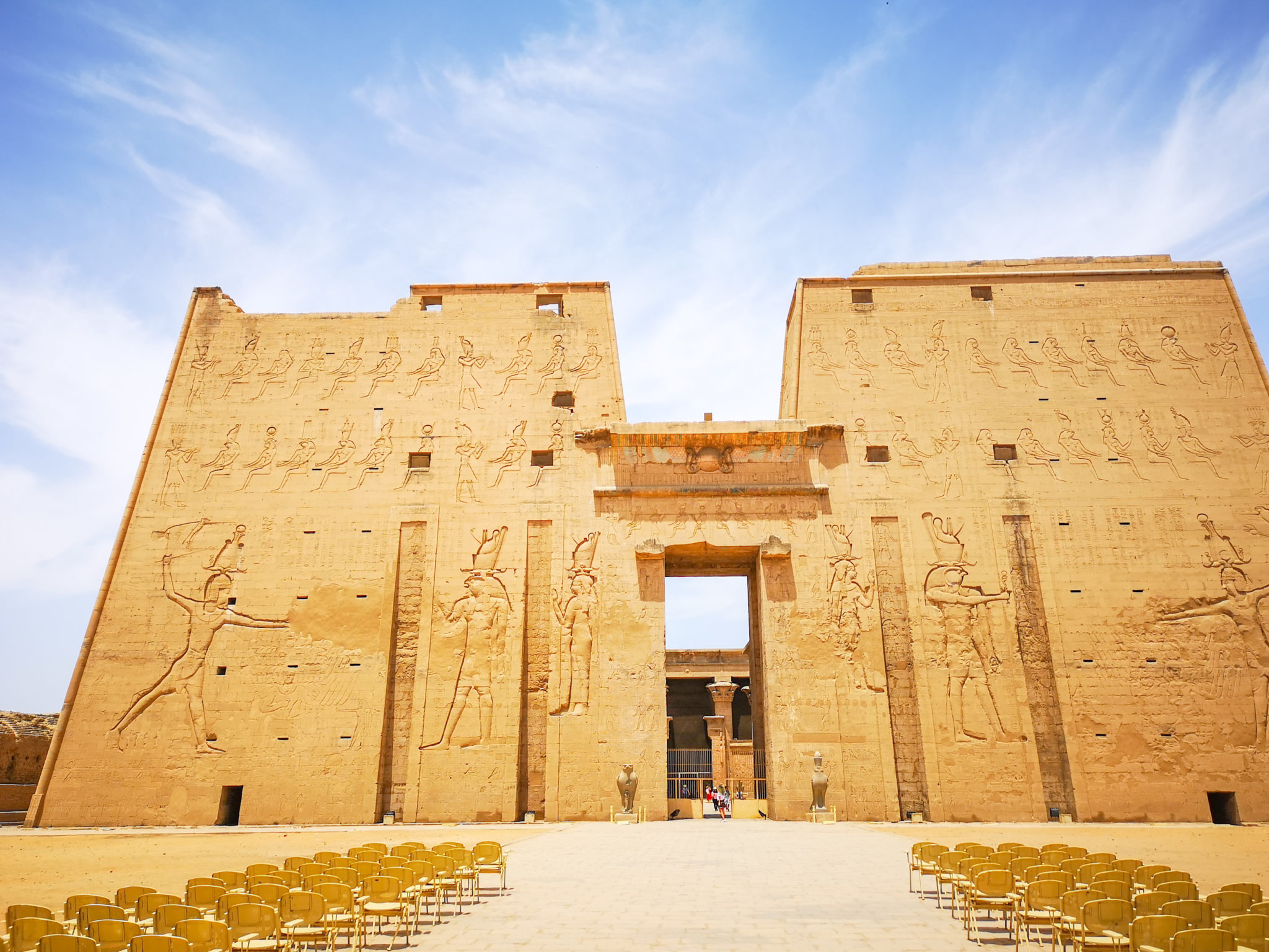 Best egypt travel guide, the temple of edfu is so well preserved and the hieroglyphs are amazing