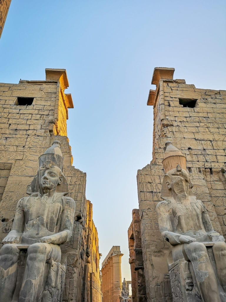 best egypt travel guide the main entrance of Luxor temple, must visit when in Luxor