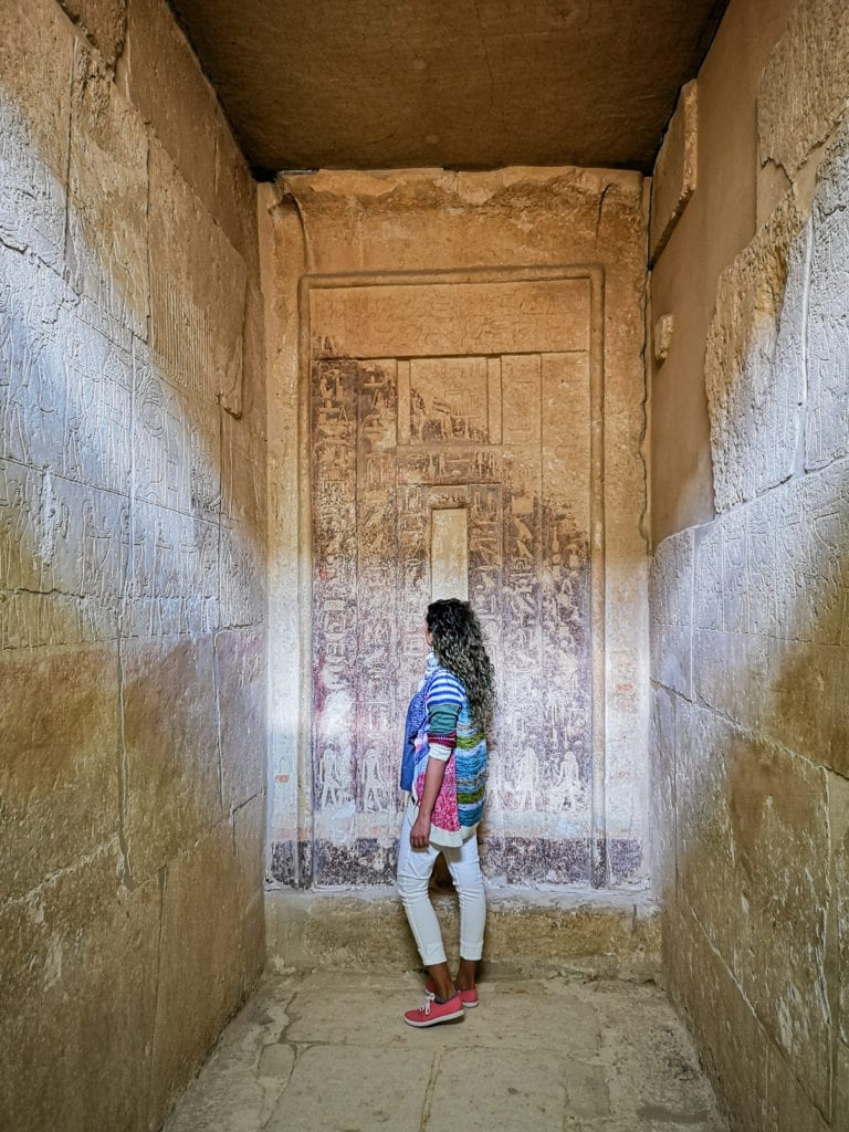 best egypt itinerary saqqara inside a tomb, well perserved drawings