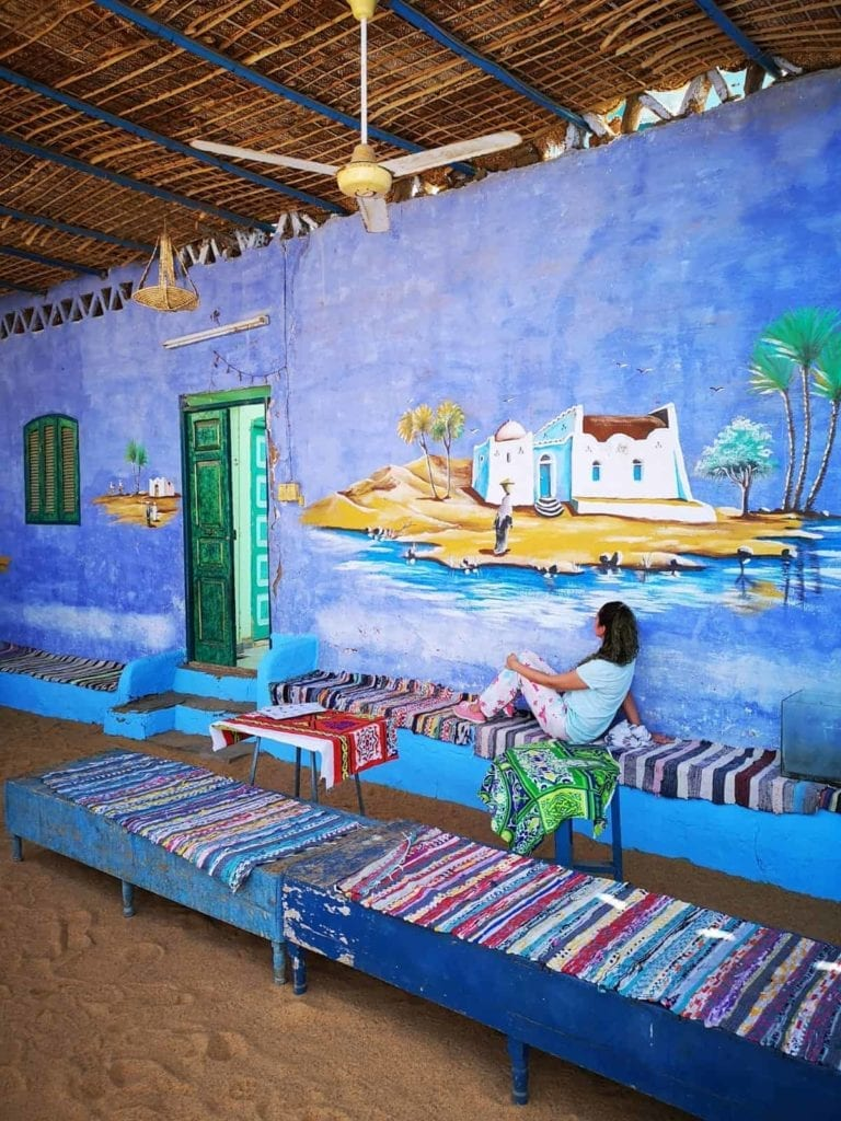 Best Egypt Travel Itinerary Aswan Nubian Village Nile inside the traditional nubian house