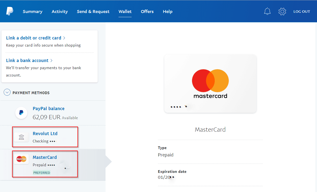 Avoid Paypal fees Choose Revolut card Mastercard or Visa as Preferred Payment method in Paypal