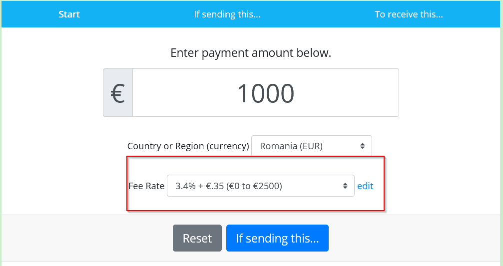 How to avoid PayPal fees - fee rate and fixed comission